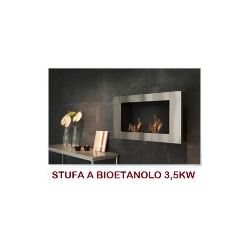 Stufa Caminetto A Bioetanolo A Parete Incasso Nuovo Design Mod Long